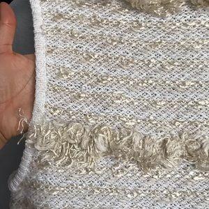 J. Crew Tops - J Crew Sleeveless Striped Shag Fuzzy Sweater